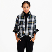 SHRUNKEN BOY SHIRT IN NAVY PLAID