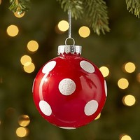 Polka-Dot Ball Ornament - Red$2.36$2.95