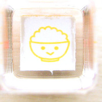 cute smiling food rubber stamp