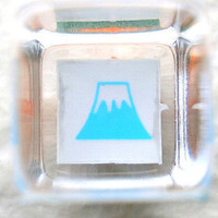 cute tiny mount fuji rubber stamp