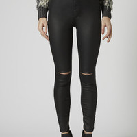 MOTO Ripped Coated Joni Jeans - Clothing