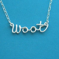 woot necklace by PianoBenchDesigns on Etsy