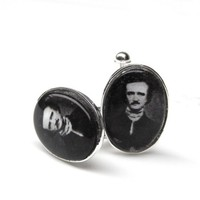 The Edgar Allan Poe silver plated Cufflinks  American by adorapop