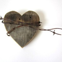 The Shy Wild Heart with old barn wood rustic by TheLonelyHeart