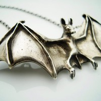 MORTICIA'S BAT NECKLACE by gretchenvoneberstein on Etsy