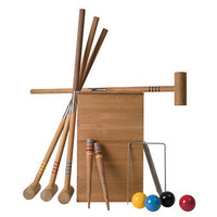 Teak Croquet Set, Teak