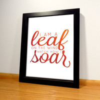 Firefly Serenity Leaf Quote Print - 8x10 Digital Print