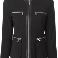 Michael Michael Kors zipped pockets and fastening fitted jacket