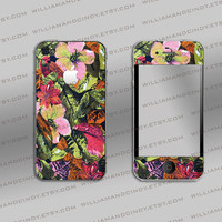 Iphone 4 cover - Vintage Floral Pattern Print