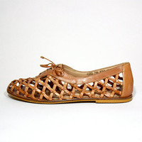 VTG 80's Woven Leather Lace Up Oxford by jamesrowlandshop on Etsy