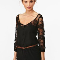 Midnight Lace Romper