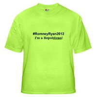 #RomneyRyan2012 Green T-Shirt
