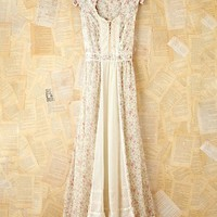 Free People Vintage Creme Floral Dress