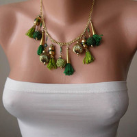 Green Bead Necklace - Speacial Handmade Design