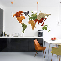 Kitchen wall art - World Map, Spicy! - Wall Decals , Home WallArt Decals