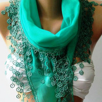 ON SALE  Scarf - Nile Green - Super Soft - Bridesmaids Gifts