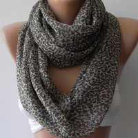 ON SALE  Infinity Scarf Loop Scarf Circle Scarf - Elegant - It made with good quality chiffon fabric....Super Loop