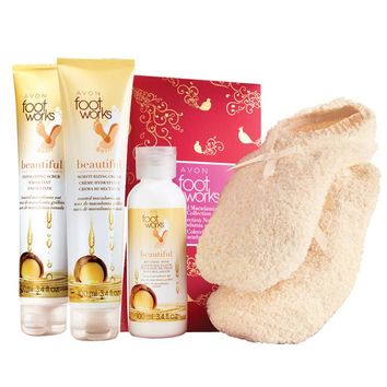 Foot Works Toasted Macadamia Nut Collection 4-Piece Gift Set
