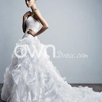 [$159.99] Fascinating Ball Gowns as Wedding Dresses Full Frills