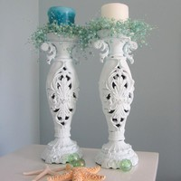 Beach Decor Candlesticks - Nautical.. on Luulla