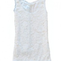 Crochet Lace Tanks with Scallop Trim