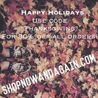 SALE STARTS NOW! 😍🎉 start your Black Friday/Thanksgiving shopping early with 30% off all orders! Ends Friday 😊 (shopnowandagain.com) #shopnowandagain
