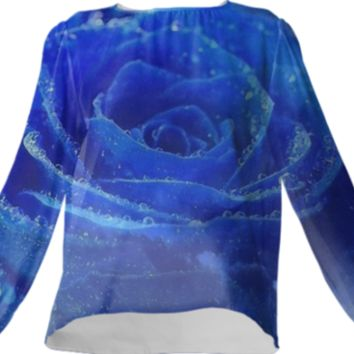 Blue Rose VP Silk Top created by ErikaKaisersot | Print All Over Me