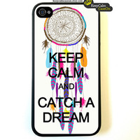 Keep Calm Catch A Dream - iPhone 4 Case, iPhone 4s Case, iPhone 4 Hard Case, iPhone Case