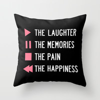 Play The Laughter, Pause The Memories Throw Pillow by LookHUMAN