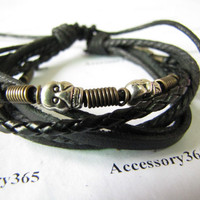 Jewelry Bangle bracelet women Leather Bracelet Girl Ropes Bracelet Men Leather Bracelet 482A