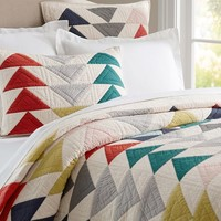 MITSY TRIANGLE PATCHWORK QUILT & SHAMS