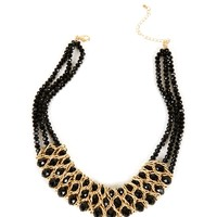 Gold Beaded Metal Necklace