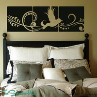 Bird Art Panel Wall Art Graphics Vinyl Lettering Decals Stickers 1364