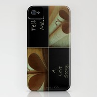 Tell Me... A Love Story. iPhone Case by Louise Wagstaff | Society6