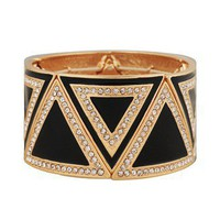 Rhinestoned Lacquered Triangle <br>Bracelet