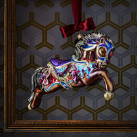 Jay Strongwater Carousel Horse Christmas Ornament