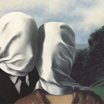 Les Amants (The Lovers) Art Print by Rene Magritte at Art.com