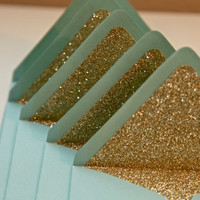 Gold Glitter envelope liners