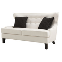 A'melas Collection Skyline Leather Loveseat