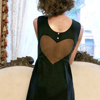 SALE  If I Only Had a VELVET Heart Dress  Size by alexandragrecco