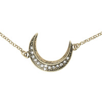 LOVEsick Bling Moon Necklace