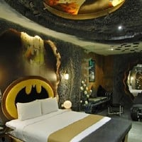 Amazing Bedroom Design with Batman-Inspired Interior in Eden Motel  Home Interior Ideas, Home Decorating, Home Furniture, Home Architecture, Room Design Ideas