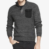 DUAL CLOSURE MOCK NECK SWEATER from EXPRESS