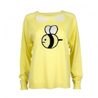Cashmere Collar Bee Sweater