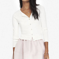 CREW NECK CARDIGAN from EXPRESS