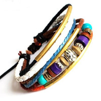 Jewelry Bangle bracelet women Leather Bracelet Girl Ropes Bracelet Men Leather Bracelet 668A