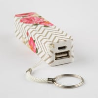 AUDIOLOGY Chevron Floral Portable Phone Charger 254297167 | Tech Accessories