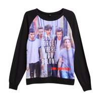 One Direction Dont Forget Girls Pullover Top