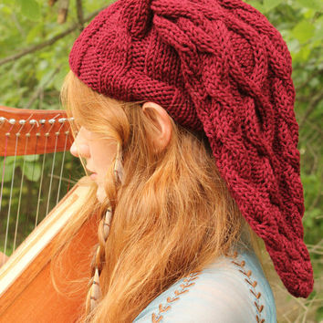 Fire Temple Red Cable-Knit Legend of Zelda Link Inspired Hat