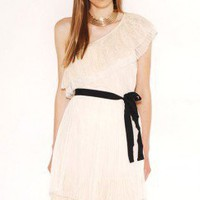 Lace & Mesh One Shoulder Dress by AKIRA | Asymmetrical Dress | shopAKIRA.com